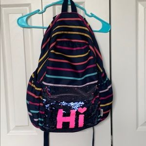 GAP floppy sequin backpack